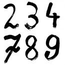 Grunge Numbers (PNG Transparent) Vol. 2