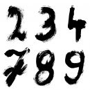 Grunge Numbers (PNG Transparent)