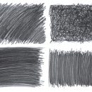 4 Pencil Scribble Texture (JPG)