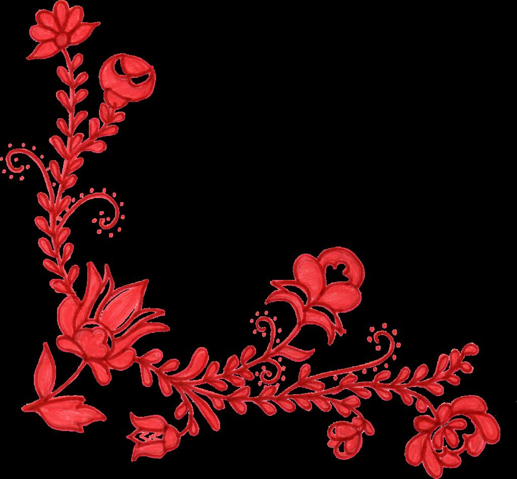 6 red flower corner ornament png transparent onlygfx com 6 red flower corner ornament png