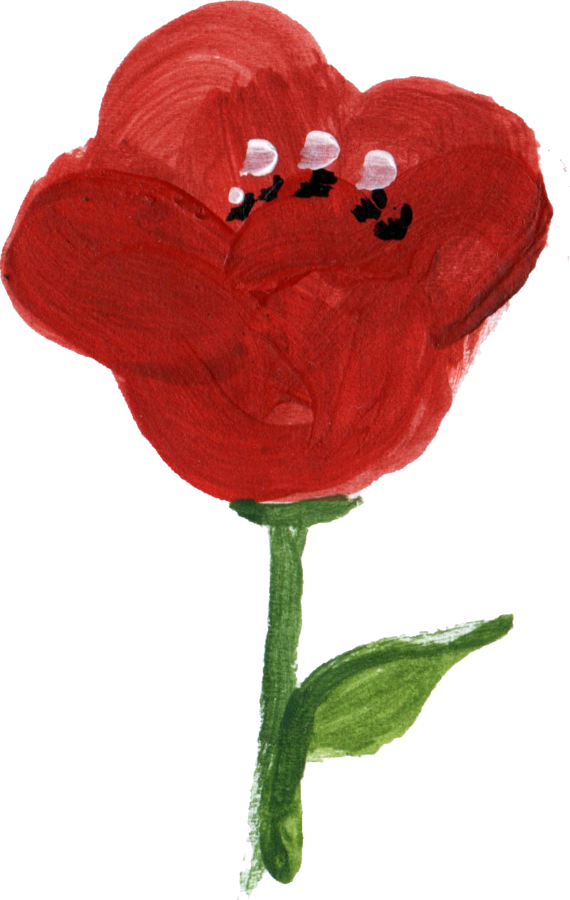 12 Simple Painted Flower Png Transparent Onlygfx Com