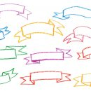 10 Crayon Banner Ribbon (PNG Transparent)