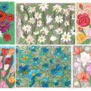 6 Crayon Flower Drawing Background (JPG)