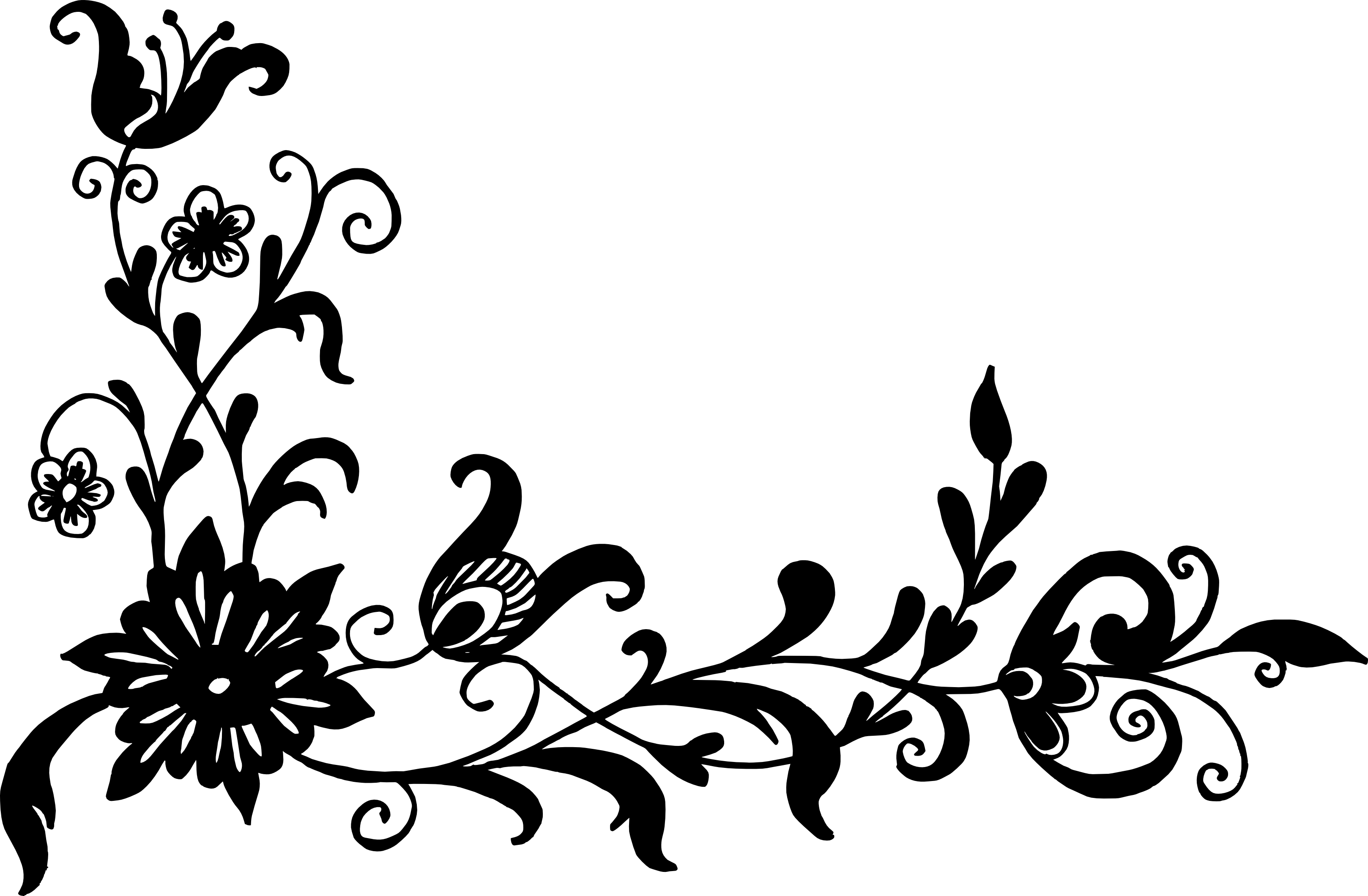 18 flower corner vector png transparent svg onlygfxcom