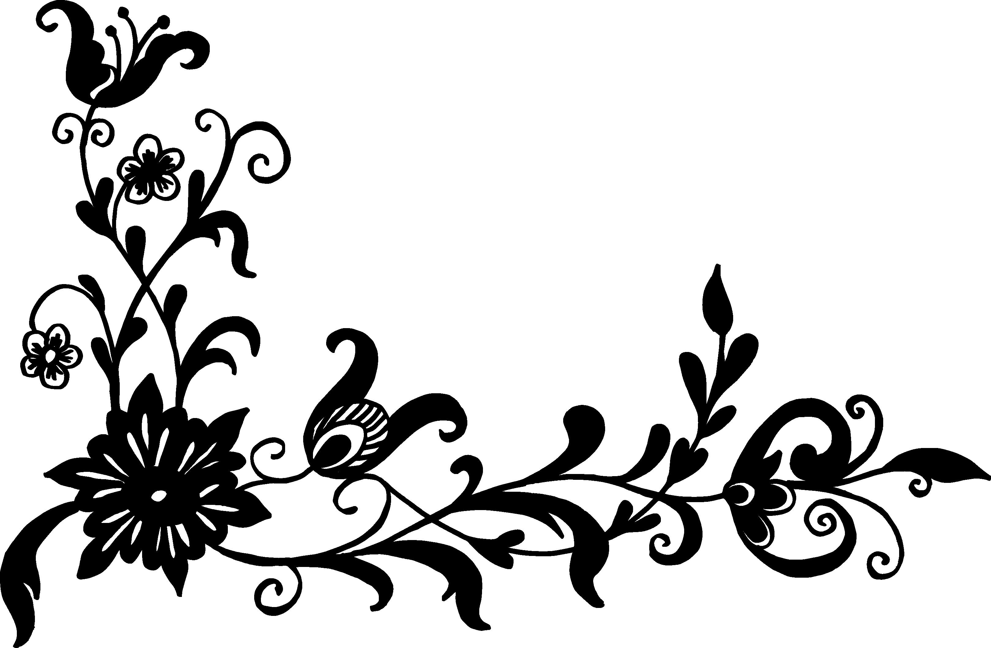 18 Flower Corner Vector (PNG Transparent, SVG) | OnlyGFX com