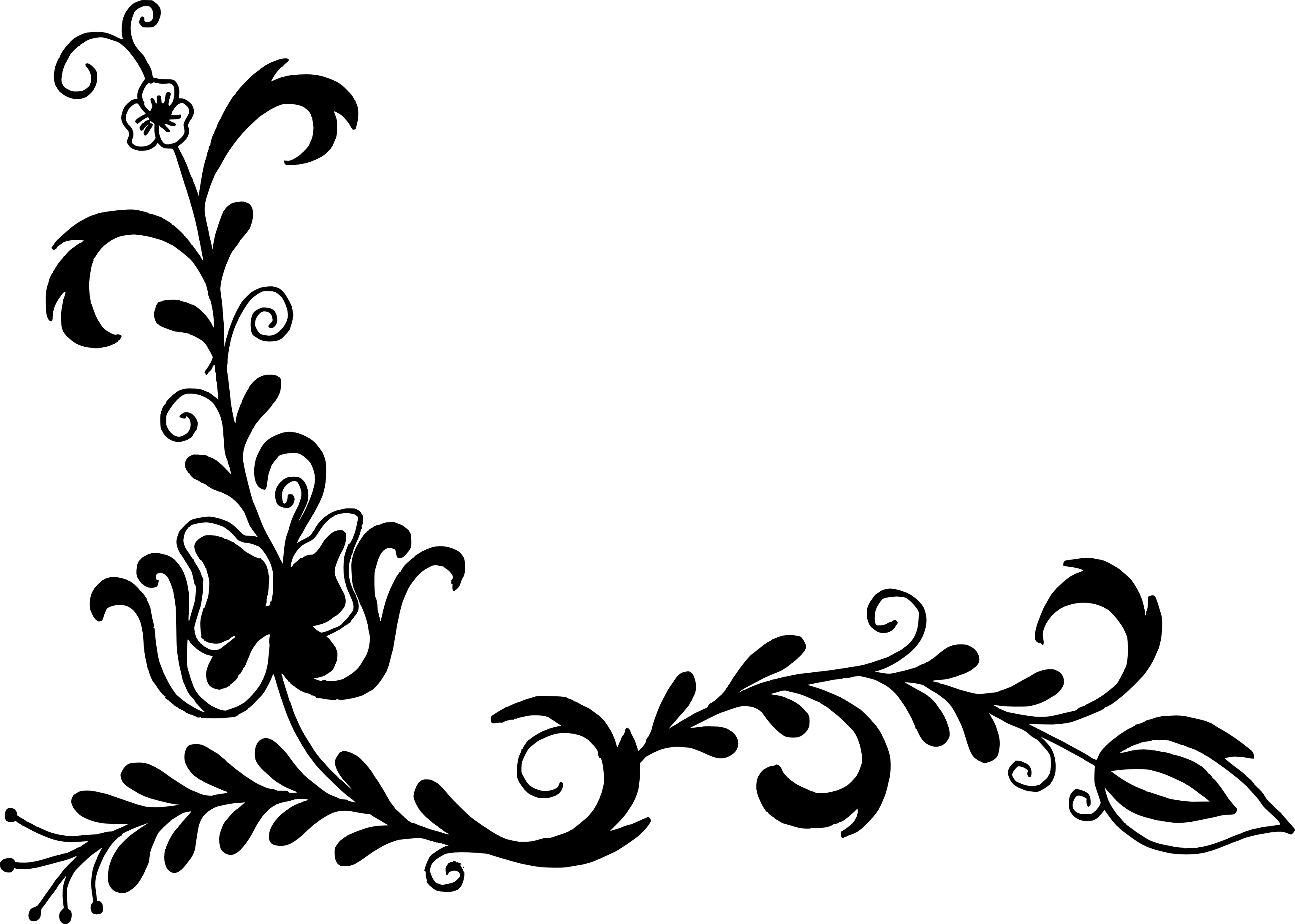 Line Art Flower Design Png : Flower corner vector png transparent svg onlygfx