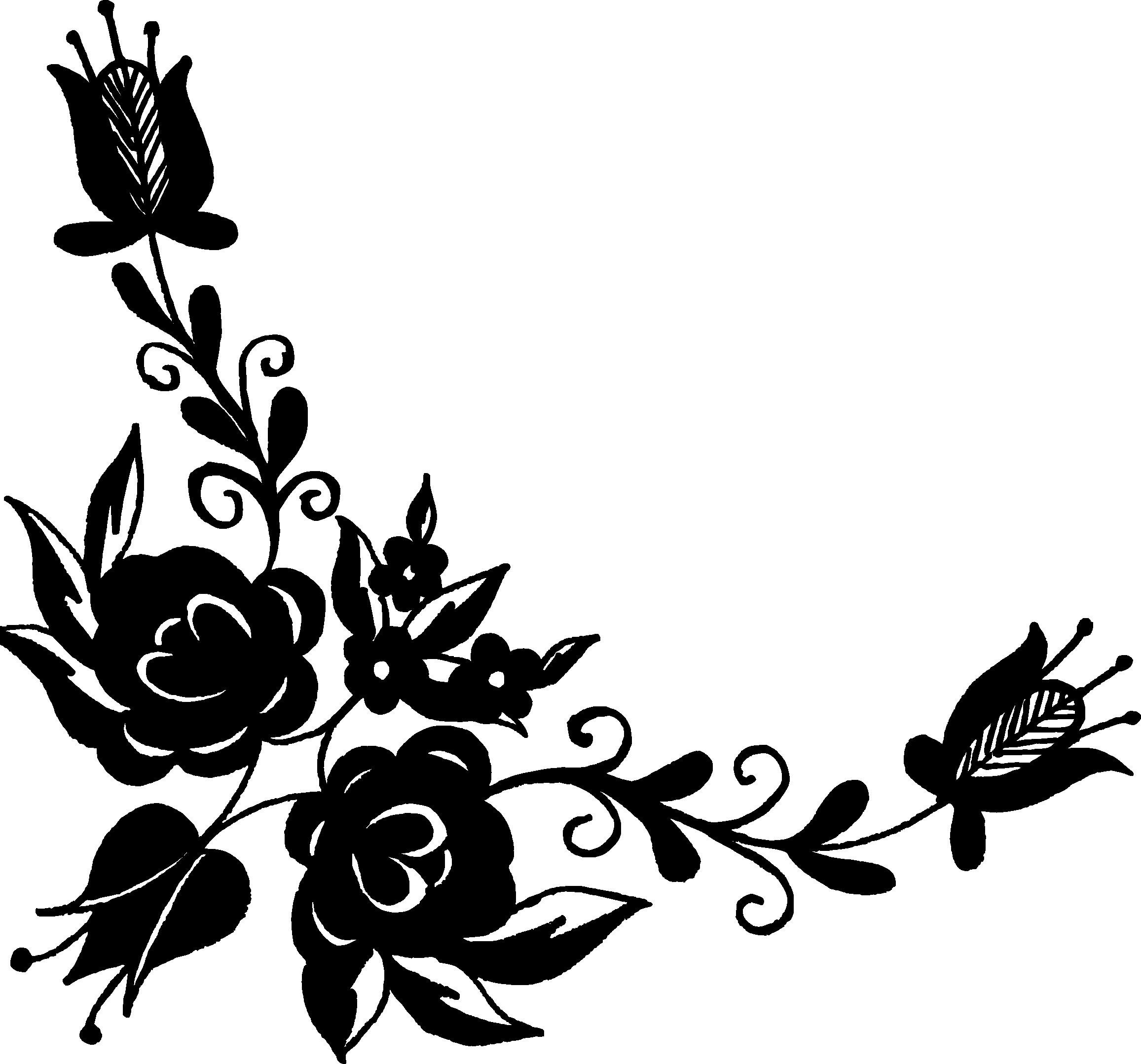 Line Art Flower Corner : Flower corner vector png transparent svg onlygfx