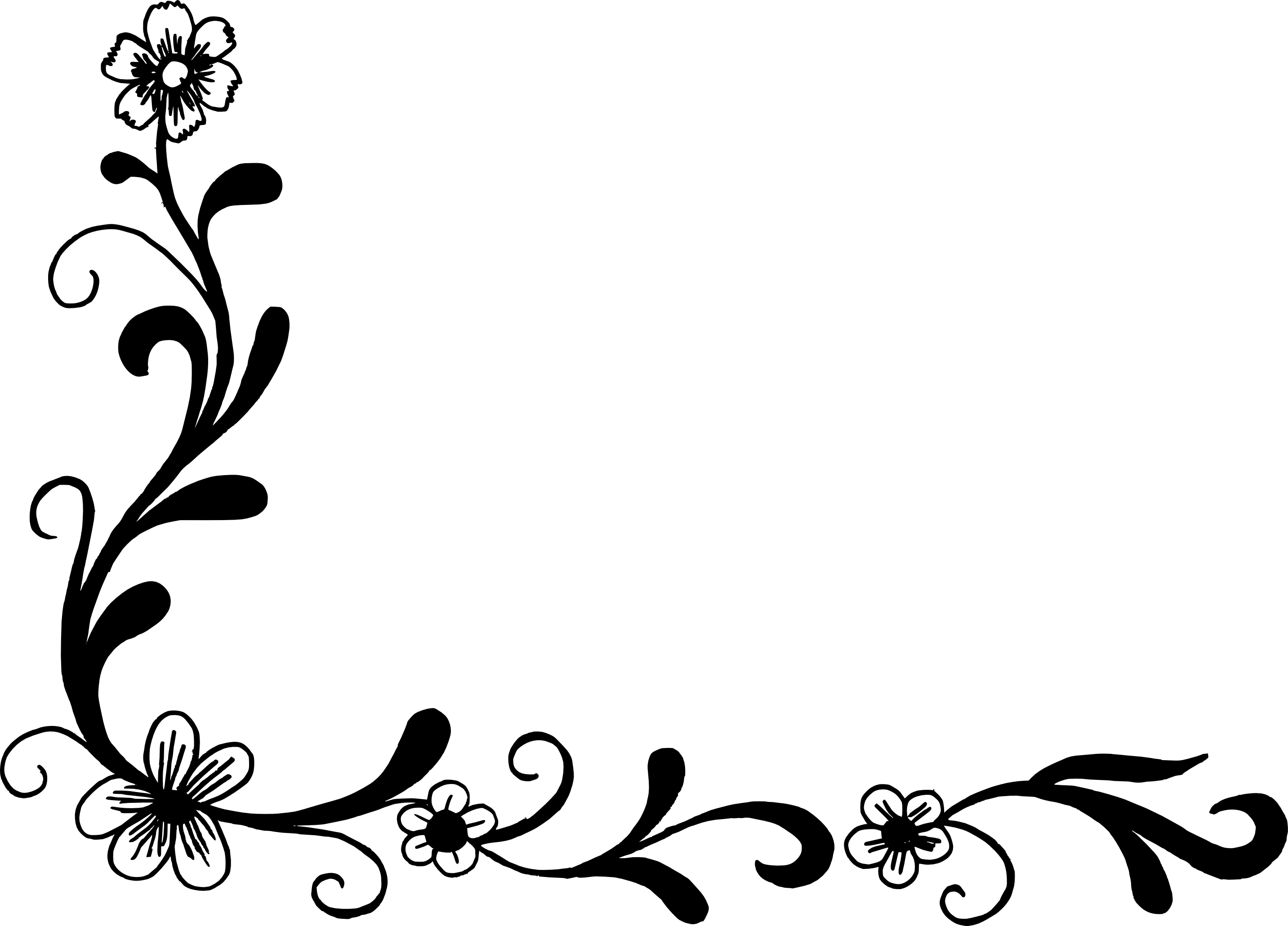 18 flower corner vector png transparent svg onlygfx com 18 flower corner vector png