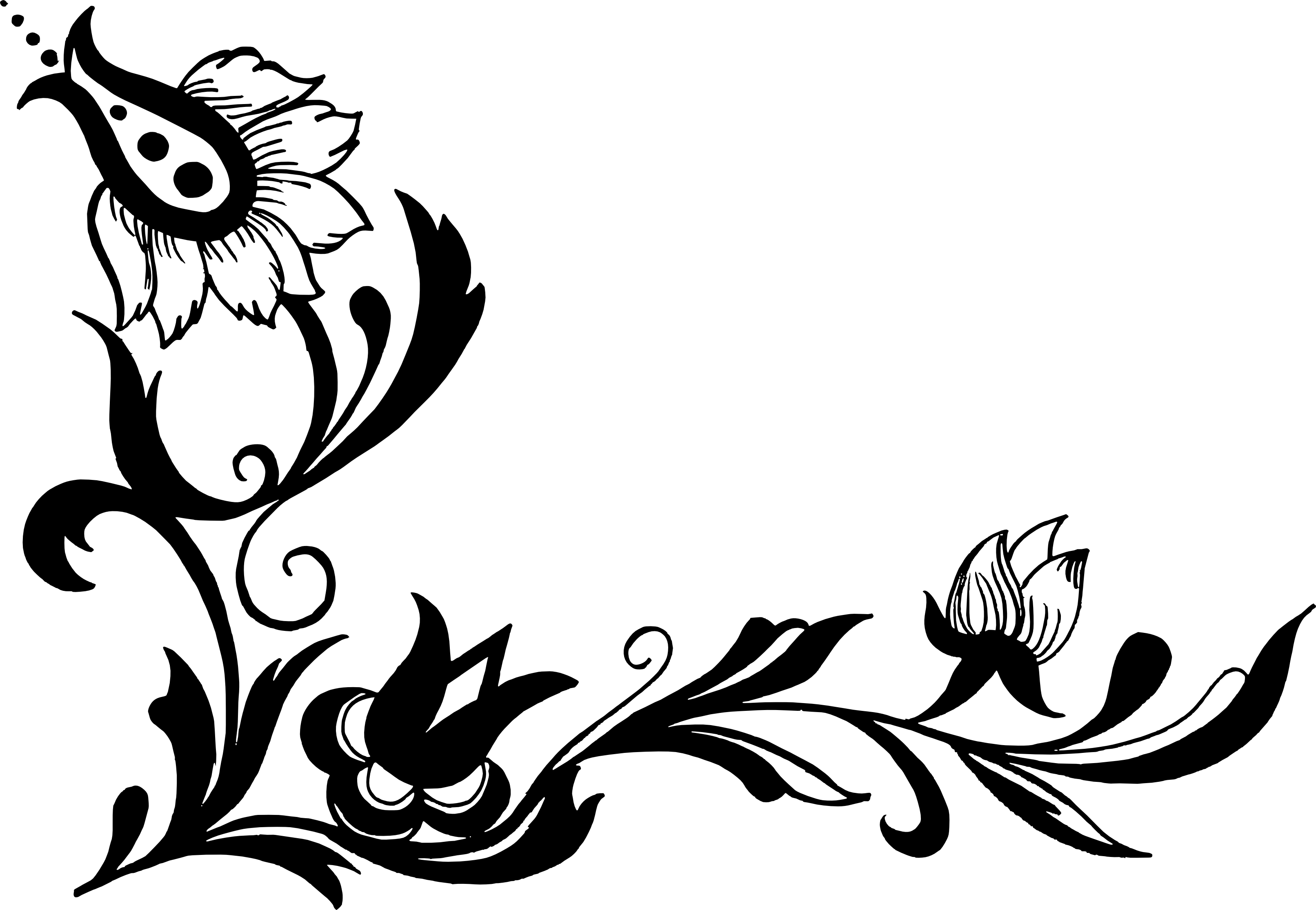 18 Flower Corner Vector (PNG Transparent, SVG)