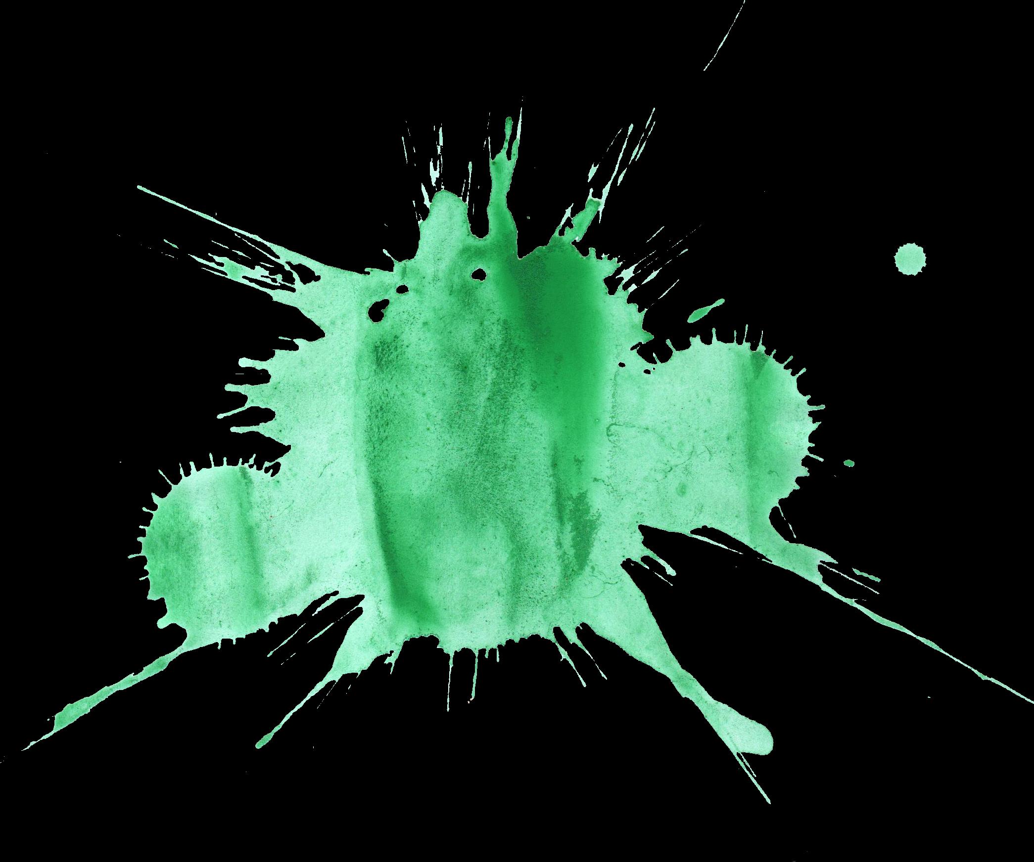 16 Green Watercolor Splatter (PNG Transparent) | OnlyGFX.com