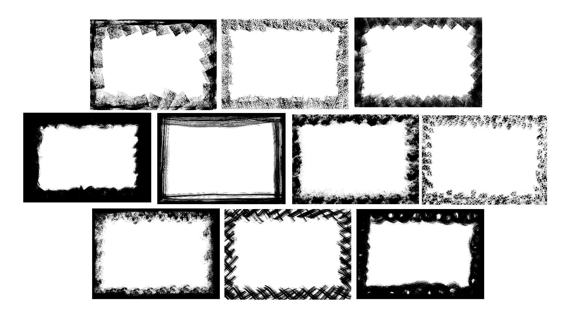 10 Grunge Frame (PNG Transparent) Vol. 3 | OnlyGFX.com