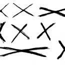 8 Grunge X (PNG Transparent)