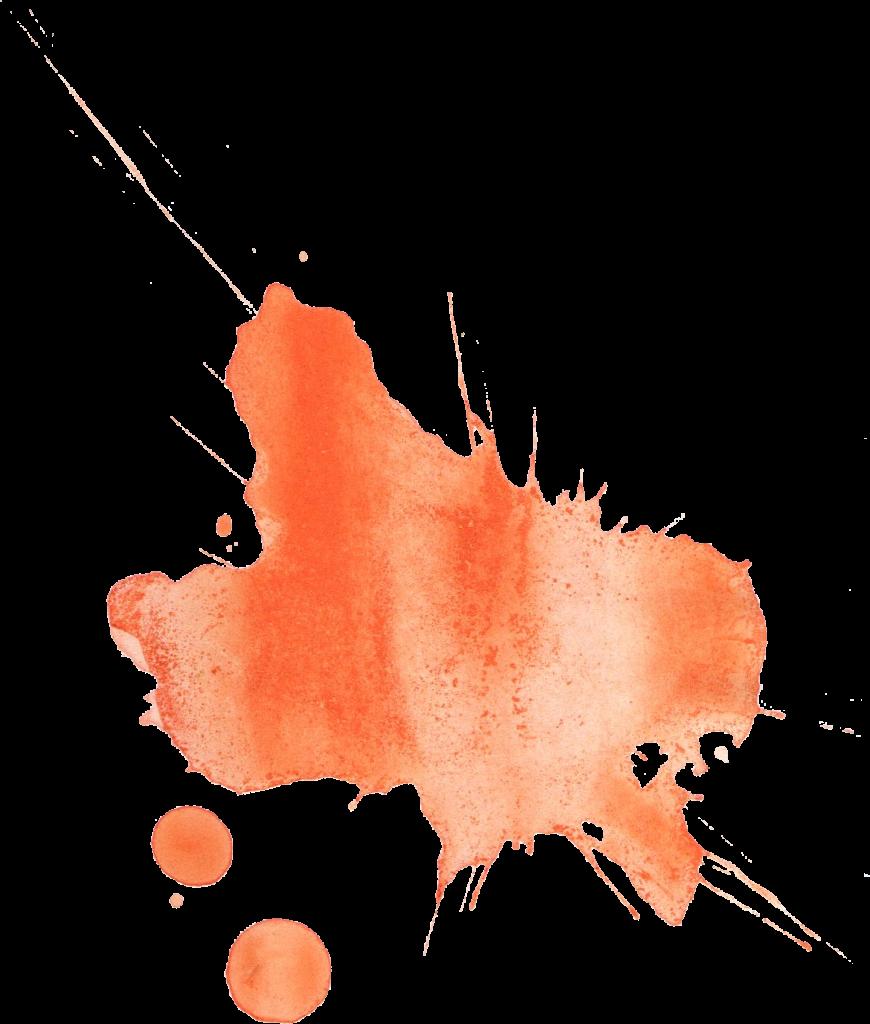 12 Orange Watercolor Splatter (PNG Transparent) | OnlyGFX.com