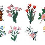 8 Paint Flower Ornament (PNG Transparent) Vol. 3