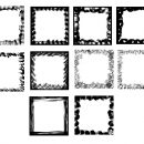 10 Square Grunge Frame (PNG Transparent) Vol. 2