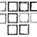 10 Square Grunge Frame (PNG Transparent) Vol. 2