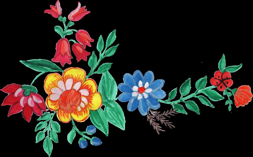 5 Watercolor Flower Corner (PNG Transparent) Vol. 2 ...