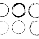 6 Grunge Circle Frame (PNG Transparent)