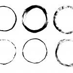 6 Grunge Circle Frame (PNG Transparent)