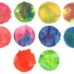 10 Abstract Watercolor Circle (PNG Transparent) Vol. 2
