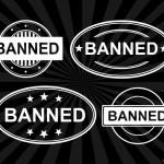 4 Banned Stamp Vector (PNG Transparent, SVG)