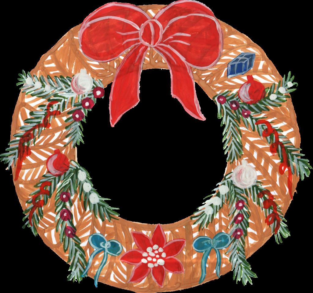 6 Christmas Wreath (PNG Transparent) | OnlyGFX.com