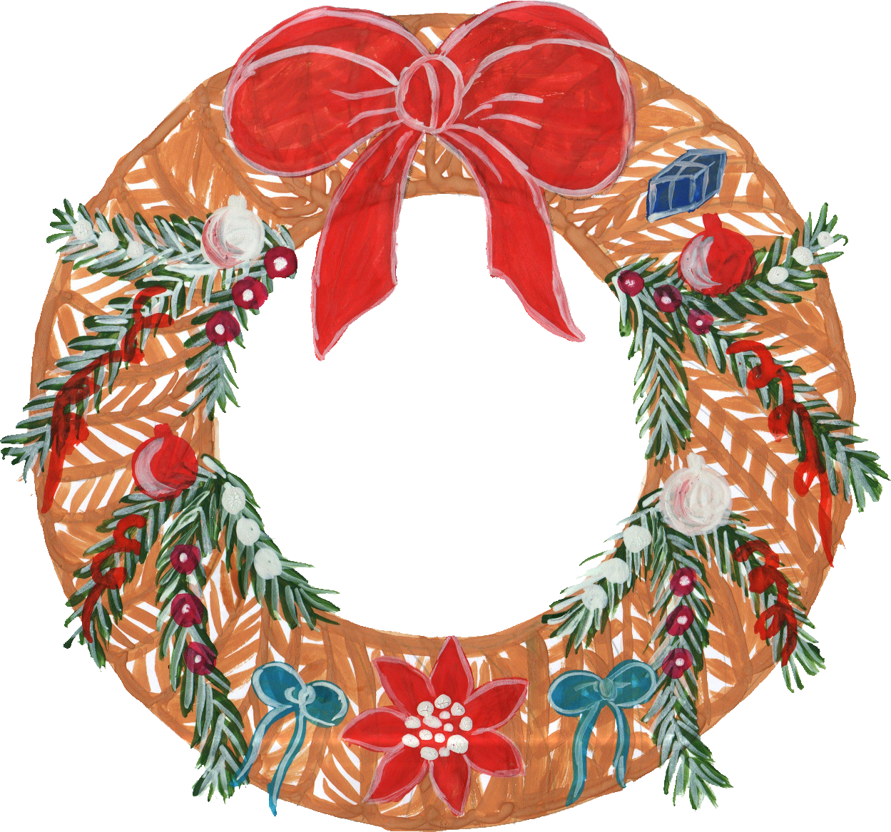Floral Wreath Painting
