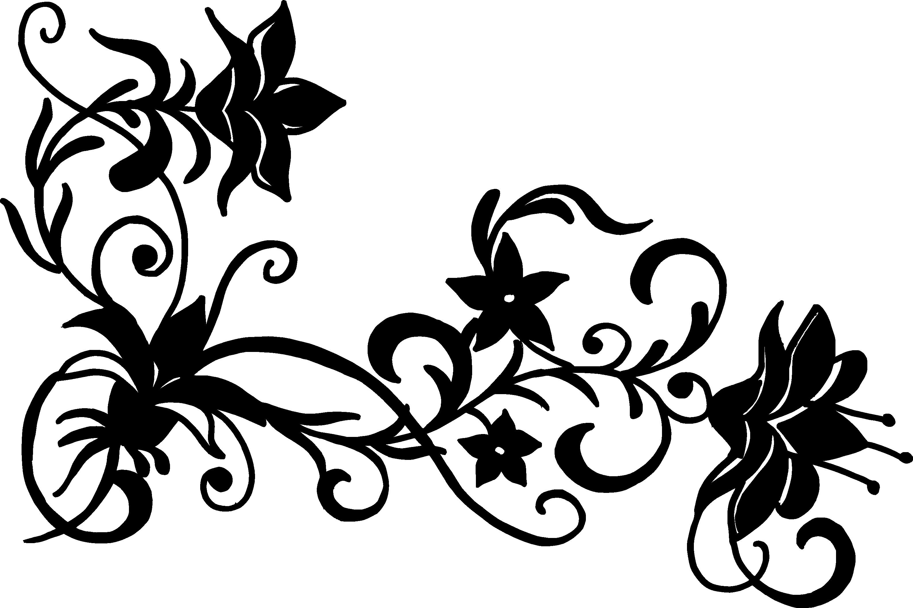 16 Flower Corner Vector (PNG Transparent, SVG) Vol. 2