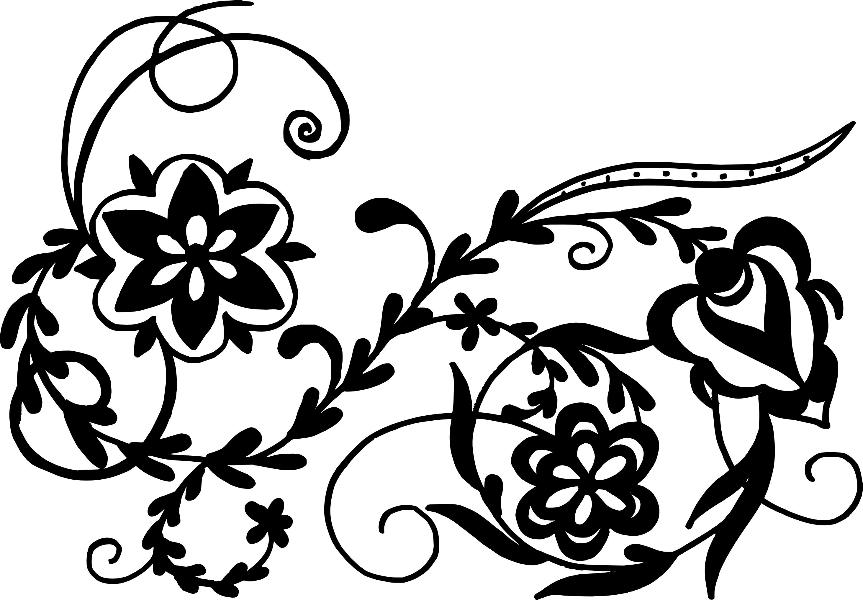 11 Flower Ornaments (PNG Transparent, SVG)