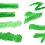8 Dry Green Watercolor Brush Stroke (PNG Transparent)