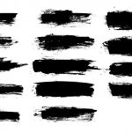 14 Grunge Brush Stroke Banner (PNG Transparent) Vol. 4