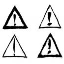 4 Grunge Exclamation Point – Warning Alert Sign (PNG Transparent)