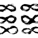 6 Grunge Infinity Symbol (PNG Transparent)