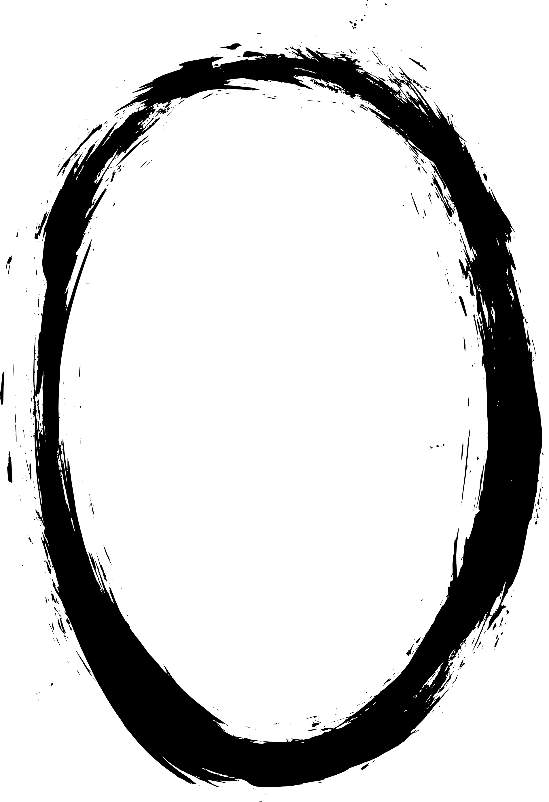 Chalk Transparent Border: 6 Grunge Oval Frame (PNG Transaprent)