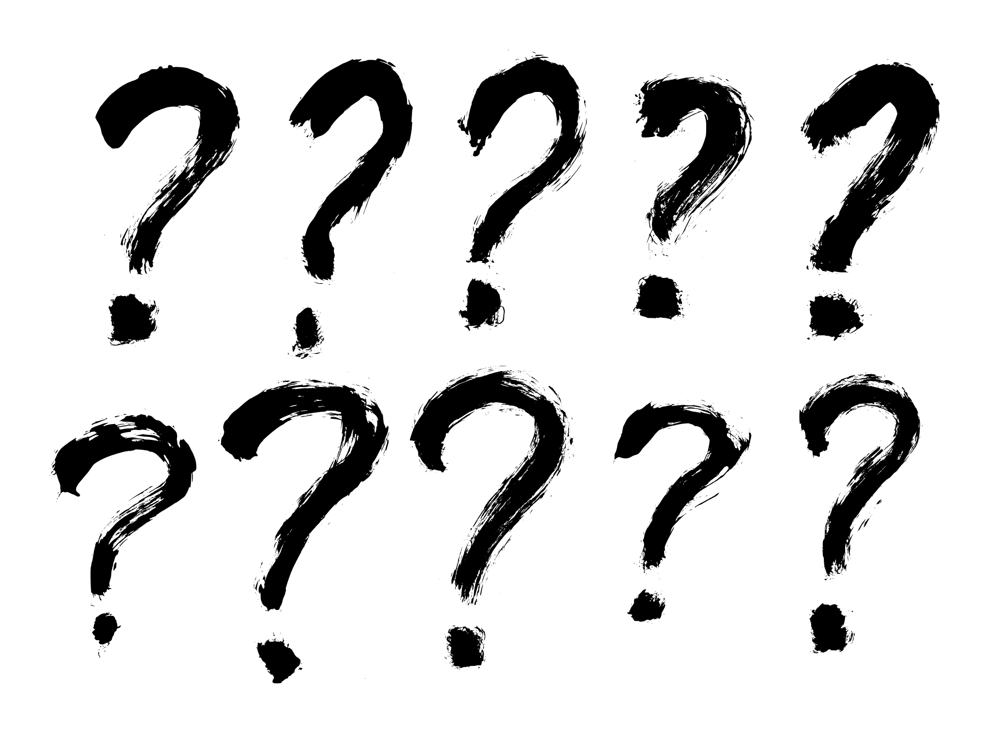 10 Grunge Question Mark Png Transparent Onlygfx Com