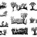 10 Nature Background Silhouette (PNG Transparent)