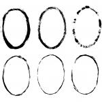 6 Grunge Oval Frame (PNG Transaprent)