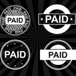 4 Paid Stamp Vector (PNG Transparent, SVG)