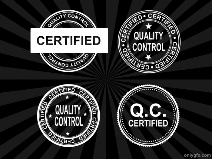 4 Quality Control Certified Stamp Vector PNG Transparent SVG