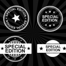 4 Special Edition Stamp Vector (PNG Transparent, SVG)