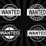 4 Wanted Stamp Vector (PNG Transparent, SVG)