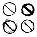 4 Grunge No Sign (PNG Transparent)