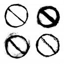 4 Grunge No Sign (PNG Transparent)