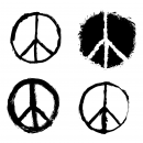 4 Grunge Peace Symbol (PNG Transparent)