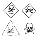 4 Grunge Toxic Sign (PNG Transparent)