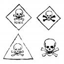 4 Grunge Toxic Sign (PNG Transparent)