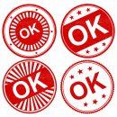 4 OK Stamp Vector (PNG Transparent, SVG)