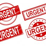 4 Urgent Stamp Vector (PNG Transparent, SVG)