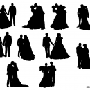 10 Bride and Groom Silhouette (PNG Transparent)
