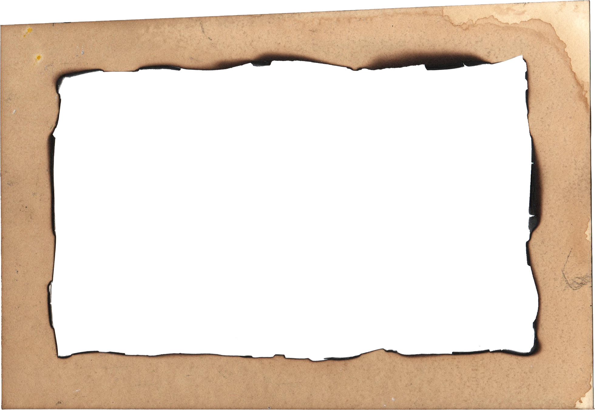 4 Burn Old Paper Frame (PNG Transparent) | OnlyGFX.com